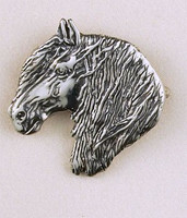Sterling Silver Friesian Horse Pin