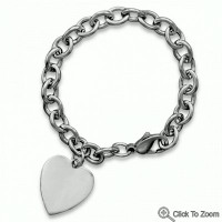 Have A Heart Silver Charm Bracelet. *Bracelet only*.