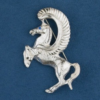 Sterling Silver Majestic Pegasus Pin
