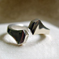 """Sterling Silver """"Twist"""" Horseshoe Nail Ring"""