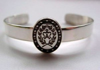 Sterling Silver American Warmblood Breed Symbol Bracelet