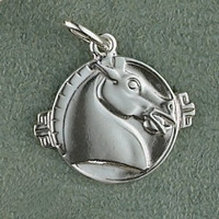 Sterling Silver Asian Horse Charm or Pendant