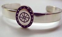 Sterling Silver Belgian Warmblood Breed Bangle Bracelet