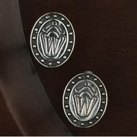 Sterling Silver Horse Breed Symbol Cufflinks