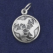 Sterling Silver Celtic Horse Charm or Pendant