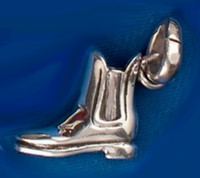 Sterling Silver Paddock Boot Charm or Pendant