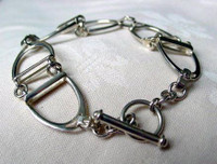 Sterling Silver Handmade Stirrup Bracelet