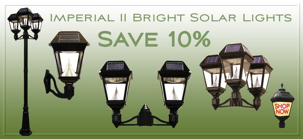 Bright Solar Lamp Post Lights by Gama Sonic.
