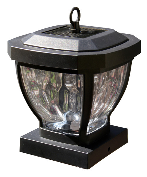4x4 solar post caps set of 2 glass carriage lanterns for wood posts solar post cap lights with solar coach lanterns for wood fence posts aloadofball Images