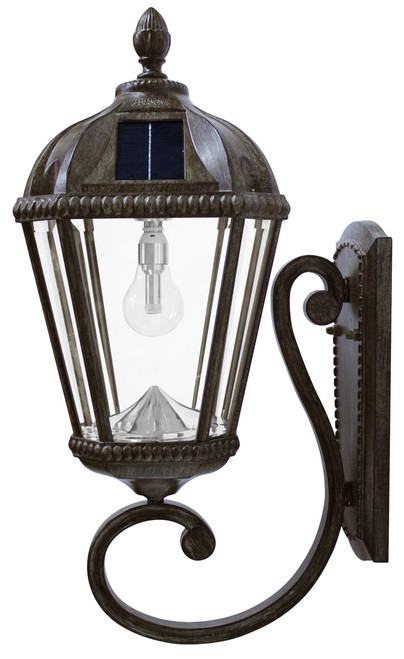 Solar wall light bronze royal carriage lantern solar light bulb solar wall light bronze royal carriage lantern with solar bulb aloadofball Image collections