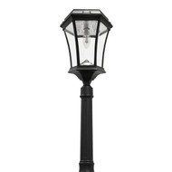 Solar lamp post yard light will illuminate your driveway, walkway, entrance and deck area.