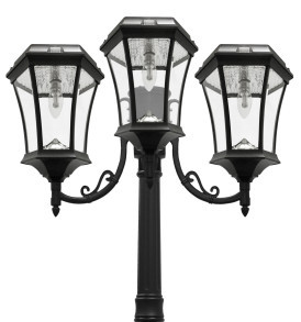 Solar lamp post light victorian triple coach lanterns solar bulb solar lamp post light victorian triple coach lanterns solar bulb aloadofball Gallery