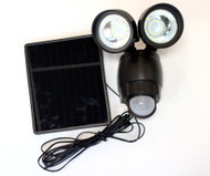 Solar Motion Sensor Light has dual adjustable heads to cover more square footage.