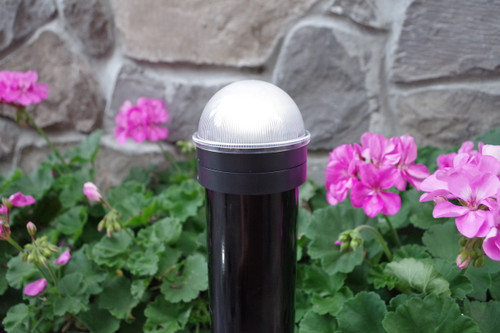 Chain link fence solar lights for round fence posts will illuminate your gate for a safe entrance.
