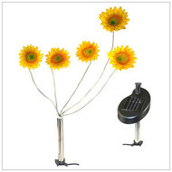 Solar Garden Lights Sunflowers with 5 Blinking LED Lights.
