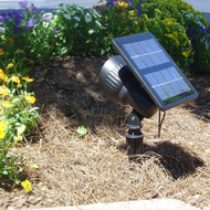 Solar Security Spot Light with 6 Foot Detachable Solar Panel and Adjustable Lens.