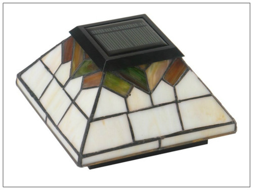 Solar Post Cap Lights Stained Glass For 4x4 And 5x5