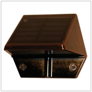 Solar Outdoor Wall Lights and Low Profile Solar Lights in Copper Finish with 2 Bright White LED.