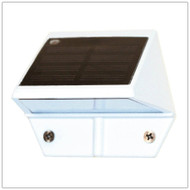 Low Profile Wall Mounted Solar Lights for decks, columns and boat docks.