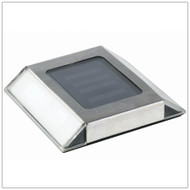Solar Path Light Low Profile Stainless Steel with 2 Bright White LED.