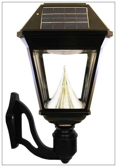 Solar wall light bright 300 lumen solar coach lantern gama sonic solar wall mount lanterns with cast aluminum and beveled glass fixture aloadofball Image collections