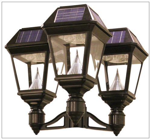 solar lamp post light fixture bright 900 lumens gama sonic - Solar Lamp Post