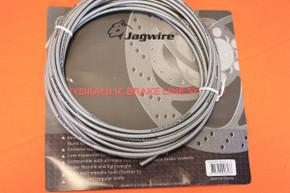 Jagwire Rattler S Hydraulic Brake Hose: Silver, per foot
