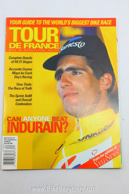 1993 Tour De France Guide Magazine: Miguel Indurain, Velo News