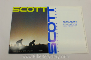 1994 Scott Bicycles Catalog: Unishock & More