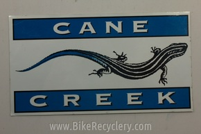 "Cane Creek Sticker: ~7"" x 4"" Blue White FREE SHIPPING"