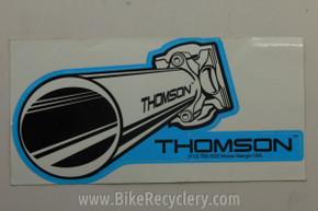 "Thomson Seatpost Sticker: ~7"" x 4"" Blue White FREE SHIPPING"