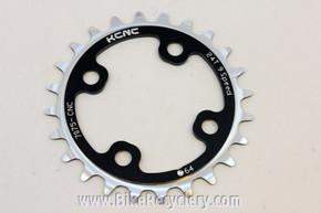 KCNC Standard Series MTB Chainring: 24t x 64mm BCD Black Silver NEW