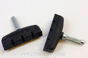 NOS Vintage Cantilever Brake Pads: Large Block, Black, 1990's (pair)