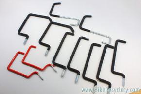 "Heavy Duty Bicycle & Ski Ceiling Hooks: ~9"" Long, Lot of 11"