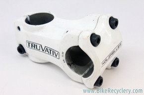 Truvativ Holzfeller Stem: 60mm x 31.8mm, Zero Rise, White