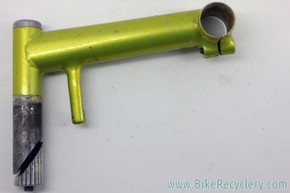 Handmade Steel Quill MTB Stem: Canti Hanger Cable Stop - 150mm x 25.4mm - 325g - Green