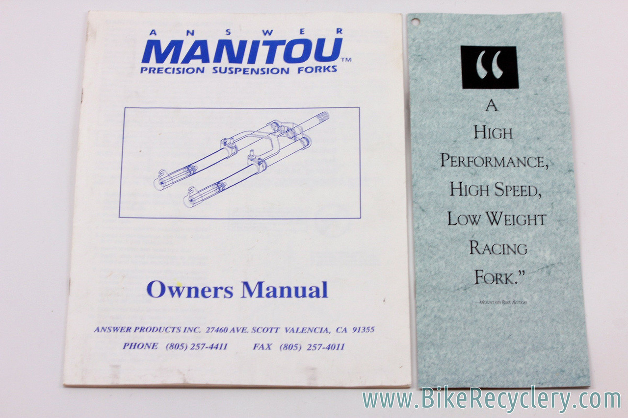 1992 Manitou One Fork Owners Manual Amp Catalog Brochure