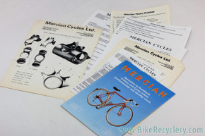 Mercian Cycles Catalogue & Dealer Sheets: Unique Collectors Items!