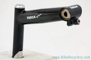 NOS Tioga T-Bone Quill Stem: Tange Prestige Japanese-made version pre 1989! 140mm x 25.4mm - Black