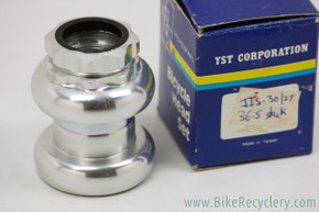 "NIB/NOS YST Professional Threaded Headset: 1"" - JIS 27.0mm - Loved Nuts - Silver - Alloy"