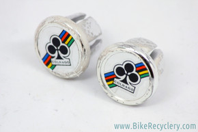 Colnago Handlebar End Plugs: Vintage 1980's - Chrome