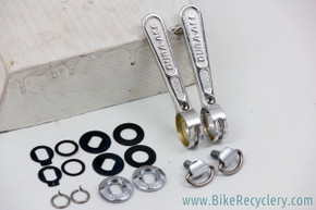 Shimano Dura Ace EX SL-7200 Downtube Shifters: Silver (Mint)