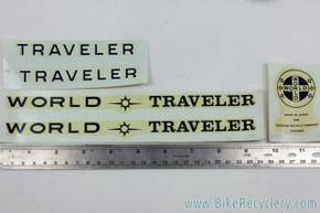 NOS Schwinn World Traveler Decal Set: Original Factory Decals