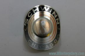 1960's Schwinn Varsity & Continental Headtube Badge: Button / Bullseye
