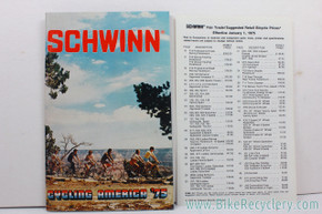 1975 Schwinn Consumer Catalog / Brochure with Alternate Cover & Price List (mint)