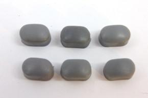 Set of 6 NOS DIA-COMPE Bakelite Caliper Brake Bolt Caps: Dark Grey - BMX Nippon/MX - Threaded