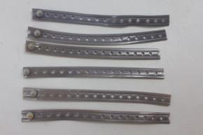 Lot of 6 NOS Schwinn / Huret Speedometer Cable Tie / Strap: For Stingray Krate Springer Fork & Others - Grey
