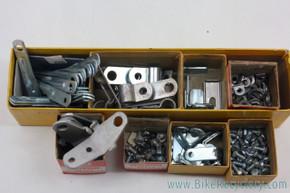NOS Vintage Sissy Bar Clamp, Reflector Bracket & Hardware LOT: Schwinn, etc