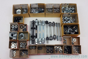 NOS Schwinn Hub Parts LOT: 15 Axles - Cones - Locknuts - Lock Washers - Spacers - Axle Nuts - Dust Covers...