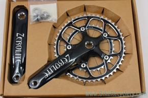 NIB/NOS Zerolite Carbon Crankset: 172.5mm - Cyclocross Double - Octalink - 48/34t